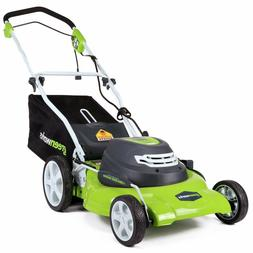 "GreenWorks 12 Amp Corded 20"" Compact Electric Push Lawn Mowe"