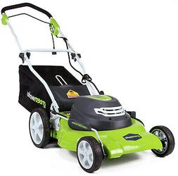 GreenWorks 20-Inch 12 Amp Corded Electric Lawn Mower 25022,