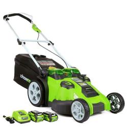 Greenworks 20-Inch 40V Twin Force Cordless Lawn Mower, 4.0 A