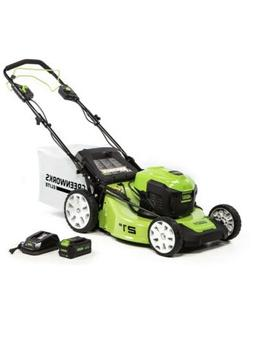 21 inch 40v brushless self propelled mower