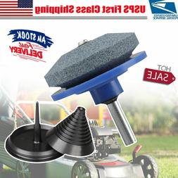 2Pieces Lawn Mower Blade Sharpener Accessories for 42-100 Mo