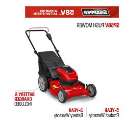 58-Volt Cordless Electric 21 in. 3-in-1 Push Lawn Mower with