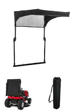 collapsible sun shade for riding mowers 2010