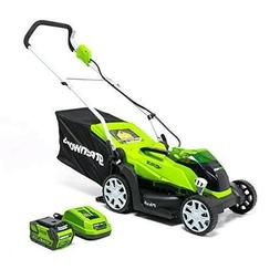 Cordless Electric Lawn Mower Twin Force Batteries Included 1