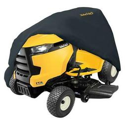 deluxe black lawn tractor cover
