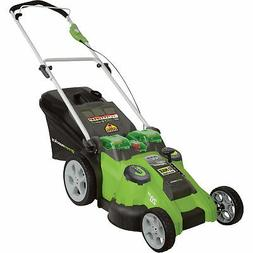 dual blade electric lawn mower 40 volt