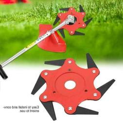 Garden Six-leaf Blade Head Replaceable Mower Universal Lawn
