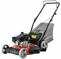 Gas Powered 170cc Engine Push Lawn Mower with Bag Home Garde