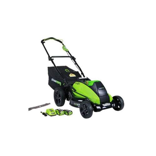 GreenWorks 19-Inch 40V Cordless Lawn Mower with Extra Blade,