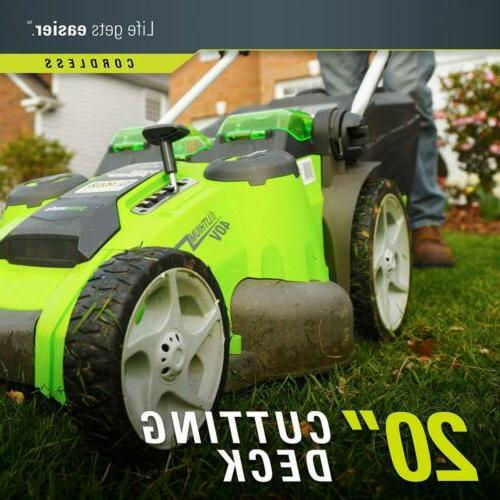 Greenworks 20-Inch Force Cordless 4.0