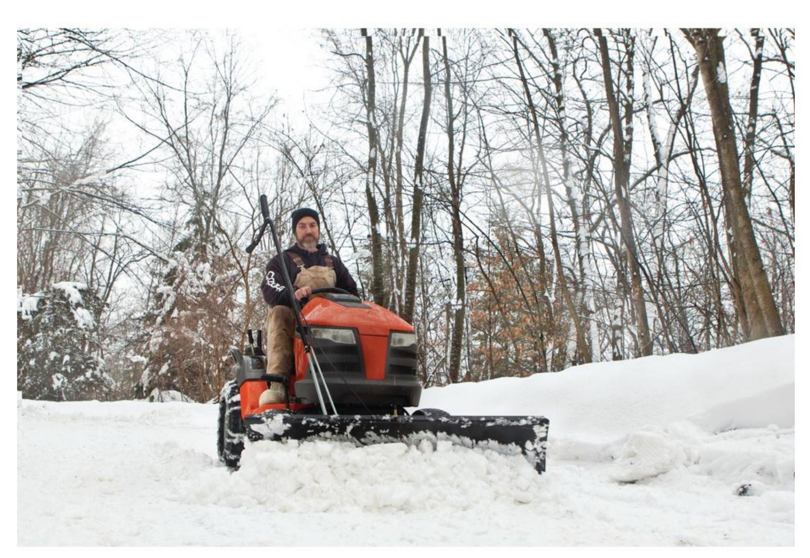 4 Lawn Tractor Snow Blade Plow Mower