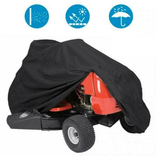 """57"""" Riding Tractor Cover Storage Waterproof Garden Outside Black"""