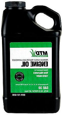 ARNOLD - Lawn Mower Engine Oil, 4-Cycle, SAE30, 48-oz.