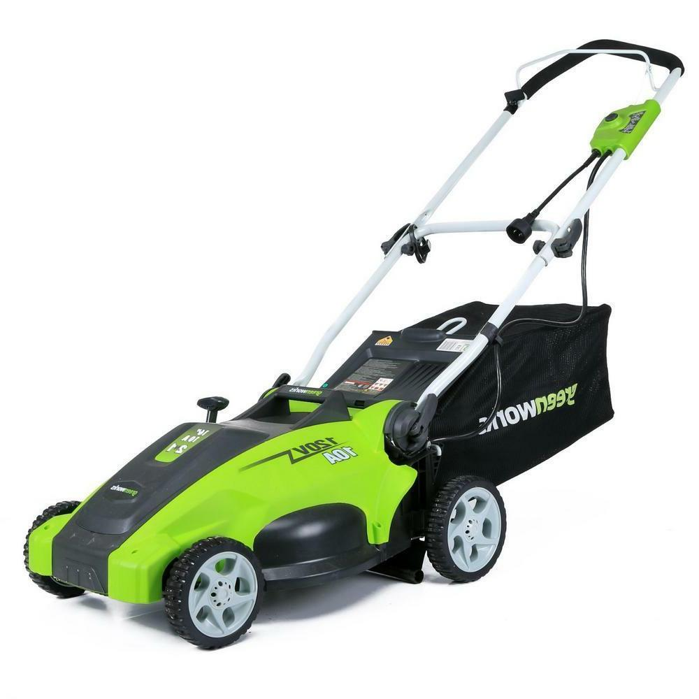 Electric Push Grass Mowing Machine Greenworks