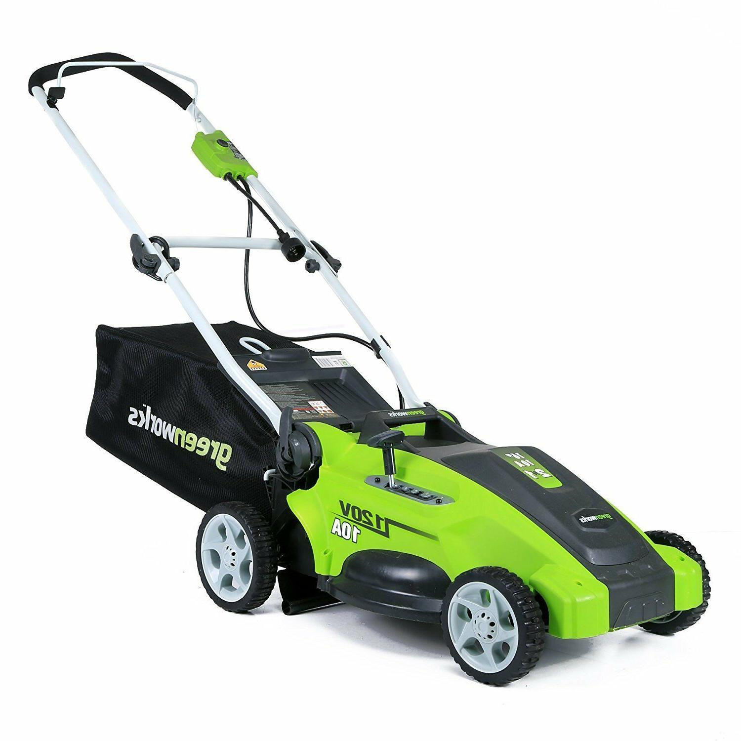 electric lawn mower corded push grass mowers