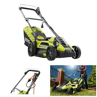 electric lawn mower corded walk behind push