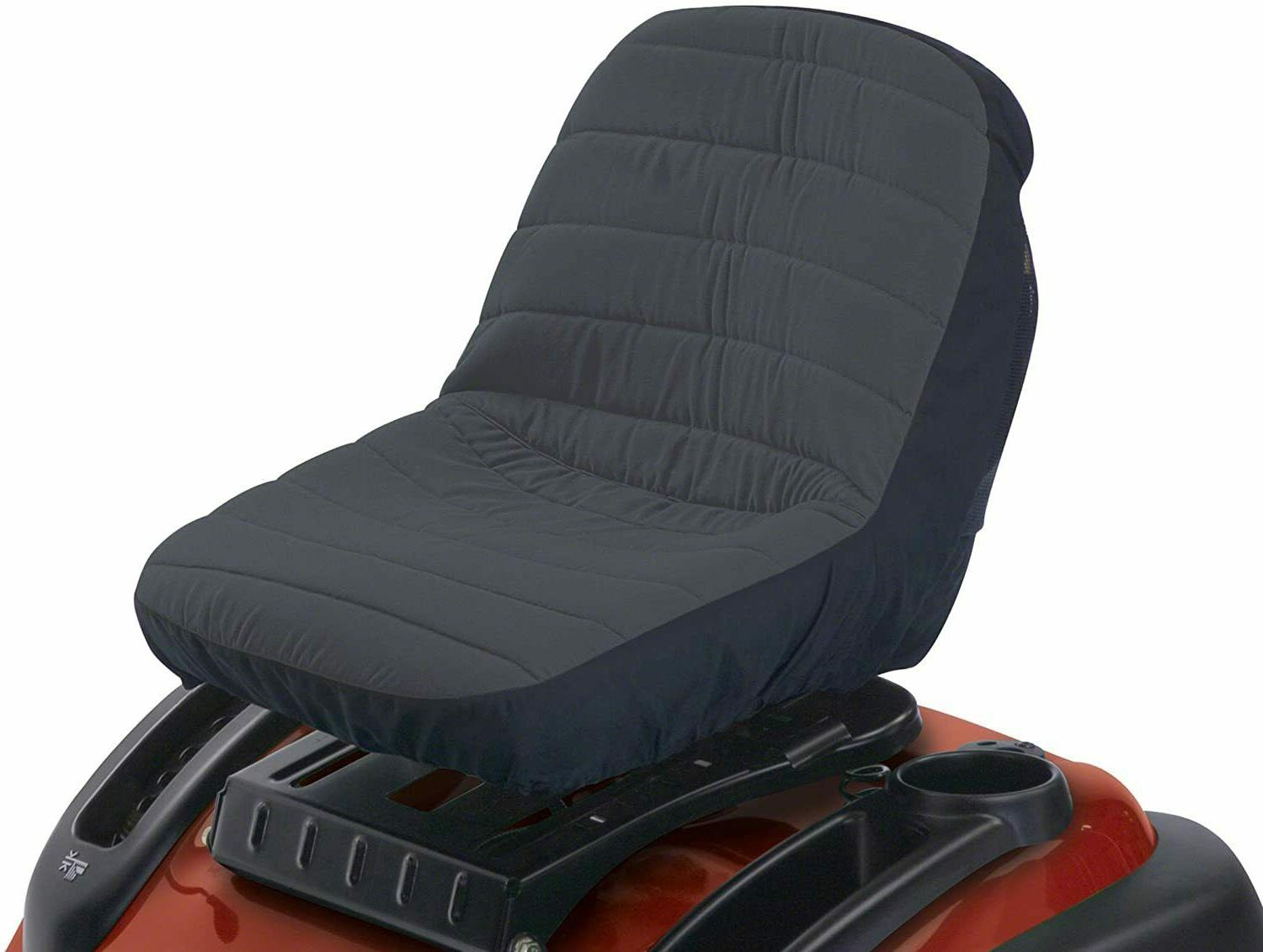 fabric seat cover for lawn mower tractor