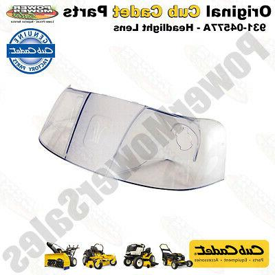 headlight lens for lawn mowers and tractors