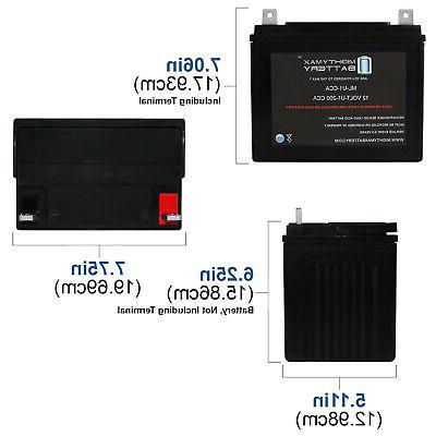 Mighty 12V 200CCA Battery for Cadet LT Tractor and Mower