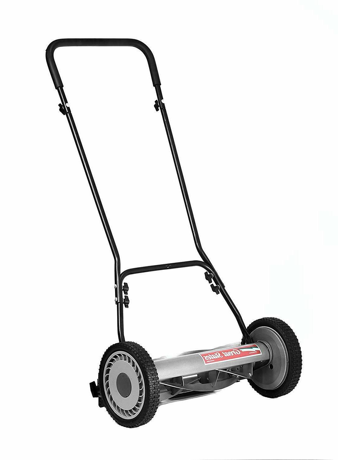 """Quiet Mower With 10"""" Easy Use Precise 18"""" Cutting Width"""