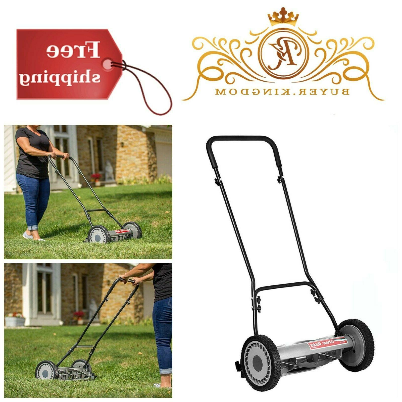 quiet push reel lawn mower with 10