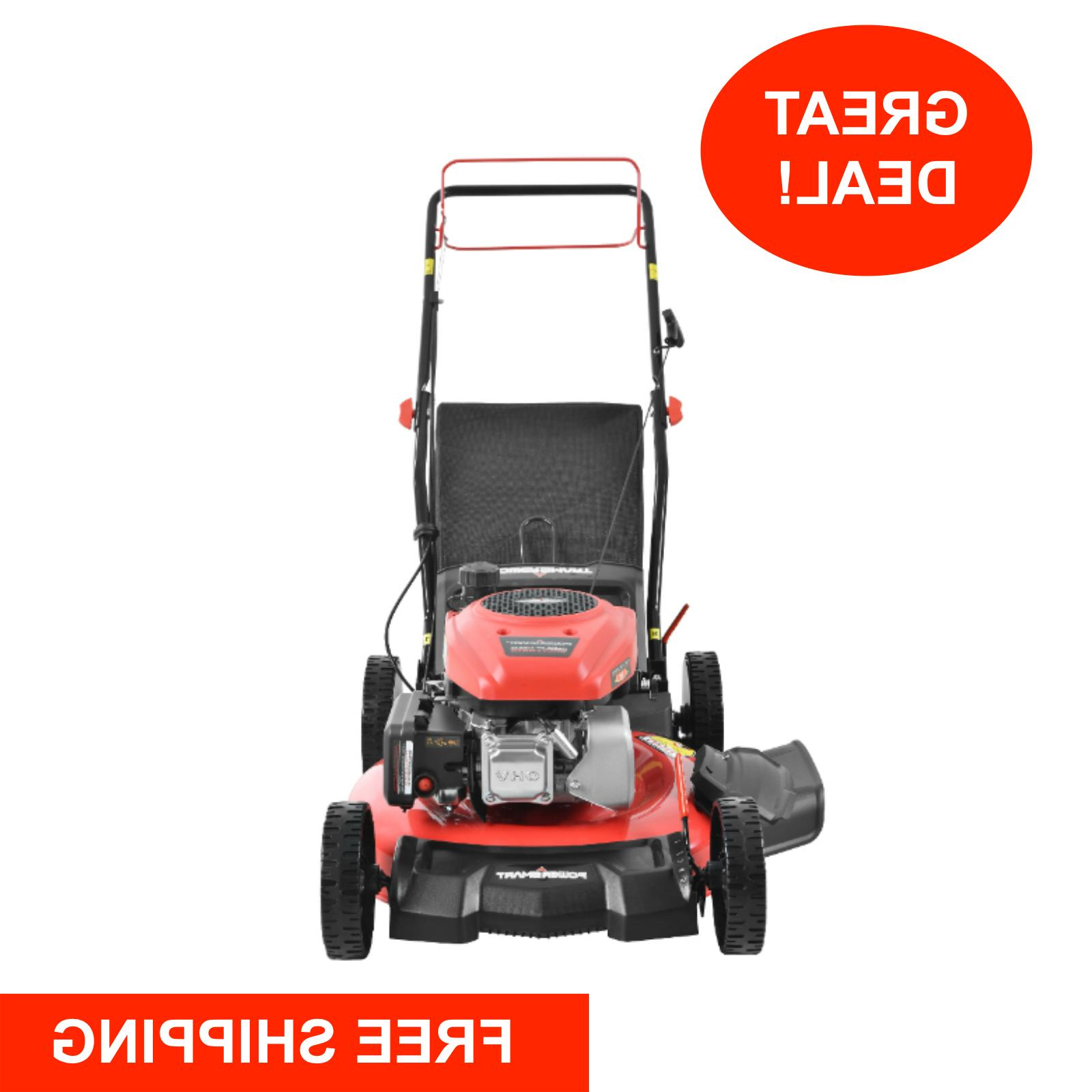 Self Propelled Lawn Mower Gas Powered 21 Bag Discharge Mulch