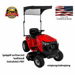 sun shade for riding mowers collapsible design