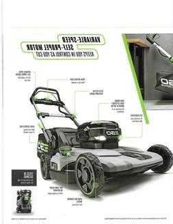 EGO THE SILENT MOST POWERFUL BATTERY POWERED LAWN MOWER AVAI