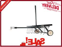 Tow Behind Lawn Mower Dethatcher 40 Inch Cantilever Handle U